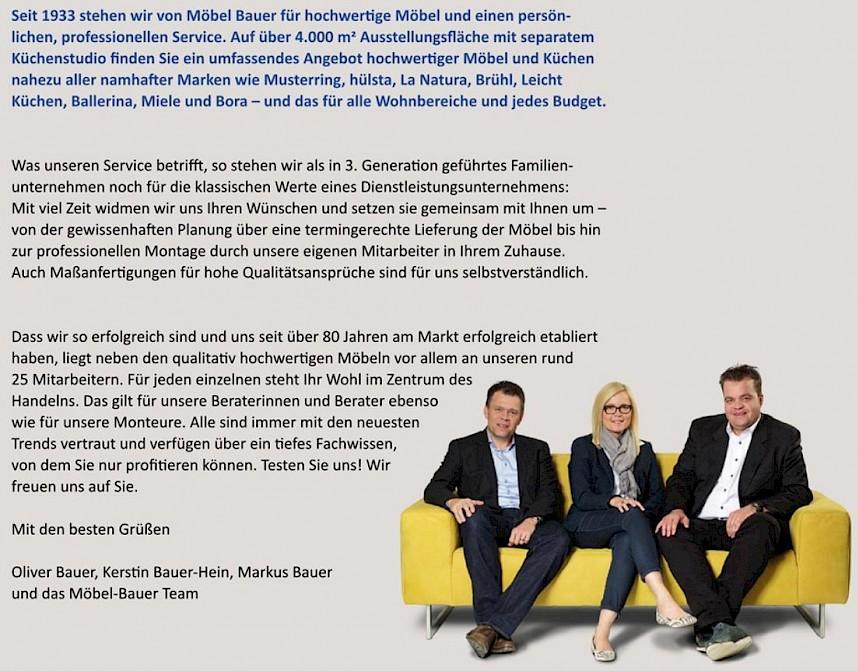 Extrem Möbel Bauer KG - Über uns TS83