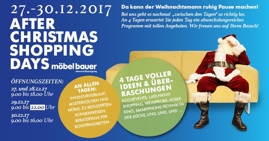 Möbel Bauer Kg Aktionstage Zwischen Weihnachten Und Neujahr